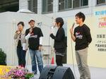 進行・リポート左から大森久美子、ターキー、三宅奈緒子、谷本潤矢
